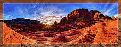 Manipulation Photograph - Red Rock Spirit by Bill Caldwell - ABeautifulSky Photography