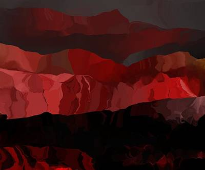 Contemporary Digital Art - Red Rock Sunrise by David Lane