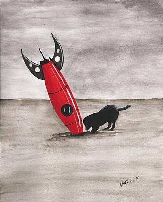 Red Rocket Print by Edwin Alverio