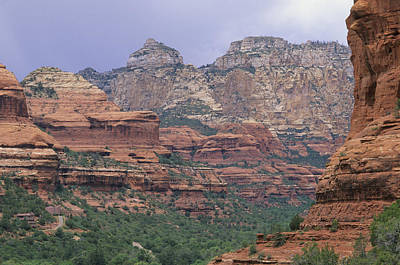 Natural Forces Photograph - Red Rocks Of Boynton Canyon by Rich Reid