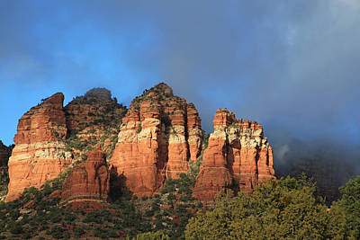 Red Rocks Of Sedona Print by Donna Kennedy