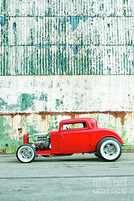Ford Street Rod Photograph - Red Rod Coupe by Tim Gainey
