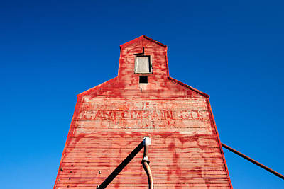 Granary Photograph - Red Roof by Todd Klassy