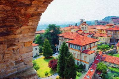 Roofs Painting - Red Roofs by Jeff Kolker