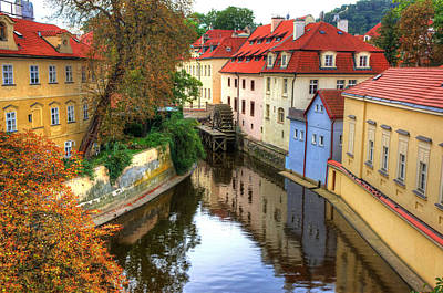 Red Roofs Of Prague Print by Jay Lee