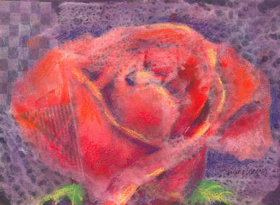 Flower Mixed Media - Red Rose by Arline Wagner