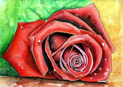 Red Rose Print by Bill Richards