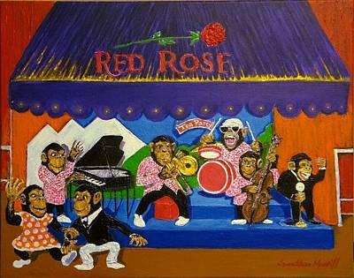 Red Rose Tea Chimpanzees Original by Jonathan Morrill