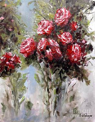 Abstrac Painting - Red Roses by Jose Luis Reyes