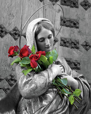 Red Roses Print by Munir Alawi