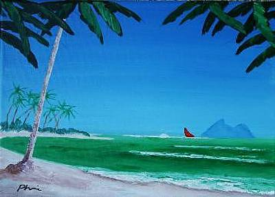 Red Sails Original by Bob Phillips