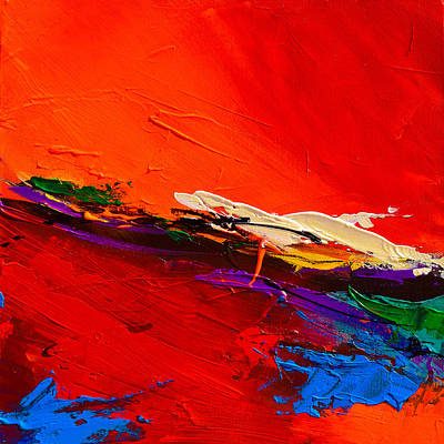 Abstraction Painting - Red Sensations by Elise Palmigiani