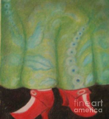 Negis Painting - Red Shoes by Rosemarie Glennon Kliegman