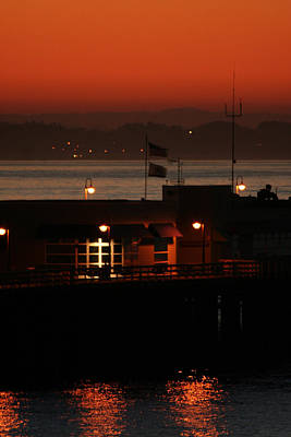 Santa Cruz Pier Photograph - Red Sky In The Morn by Holly Ethan