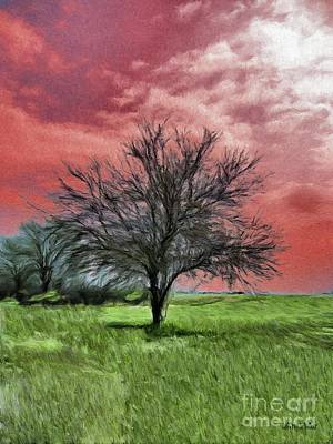 Red Painting - Red Sky by Jeff Kolker