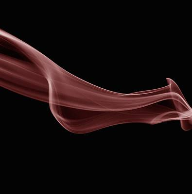 Red Smoke Abstract  Print by Art Spectrum