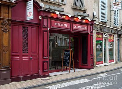 Lyon France Photograph - Red Storefront by Timothy Johnson
