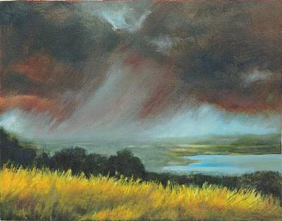 Turbulent Skies Painting - Red Storm by Dennis Kirby