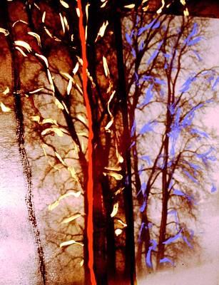 Tree Painting - Red Stripe by John Gerstner