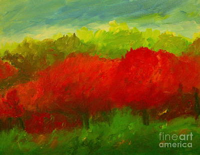 Red Sweet Cherry Trees Original by Julie Lueders