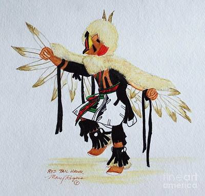 Red Tail Hawks Mixed Media - Red Tail Hawk by Mary Rogers