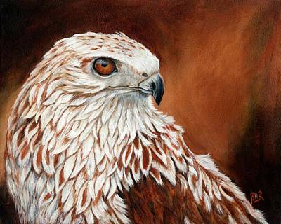 Red Tail Hawk Painting - Red Tailed Hawk by Barbara Ann Robertson