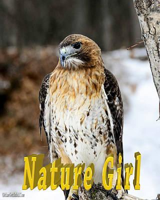 Girl Photograph - Red Tailed Hawk Nature Girl by LeeAnn McLaneGoetz McLaneGoetzStudioLLCcom