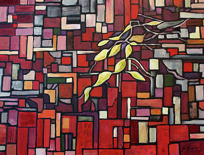 Red Cube Painting - Red Tango by Joanne Smoley