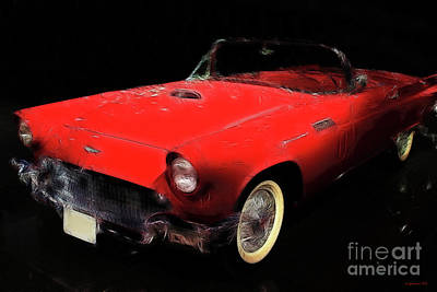 Red Thunder Print by Wingsdomain Art and Photography