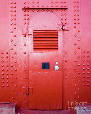 Red Tower Door Print by Juan Romagosa