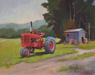 Red Tractor Original by Todd Baxter