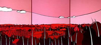 Red Tuscan Longview Print by Jason Charles Allen