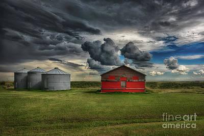 Silos Photograph - Red Under Grey by Ian McGregor
