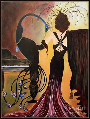 Red Velvet At The Ritz Original by Jolanta Anna Karolska