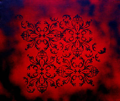 With Texture Painting - Red Velvet By Madart by Megan Duncanson