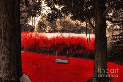 Swing Painting - Red Velvet  by Mindy Sommers