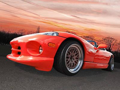 Viper Photograph - Red Viper Rt10 by Gill Billington