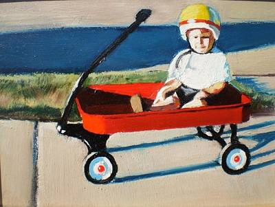 Red Wagon Original by Andrew Bays