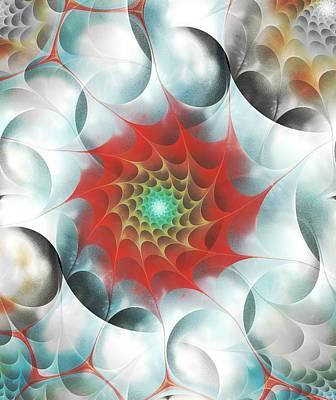 Red Web Print by Anastasiya Malakhova