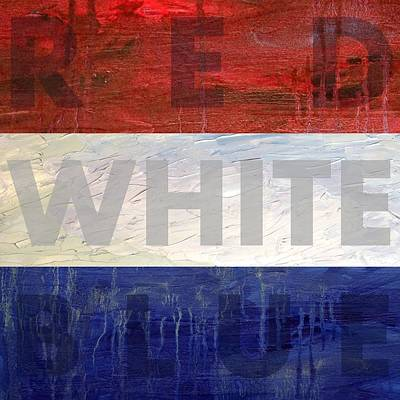 Design Photograph - Red White Blue by Michelle Calkins
