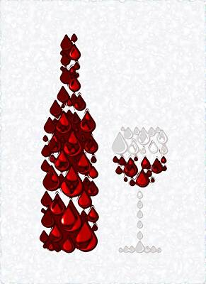 Thought Digital Art - Red Wine by Anastasiya Malakhova
