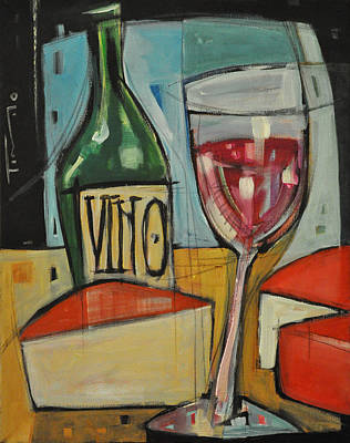 Red Wine And Cheese Print by Tim Nyberg