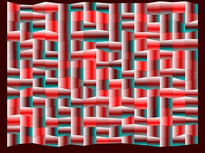 Shadows Digital Art - Red.122 by Gareth Lewis