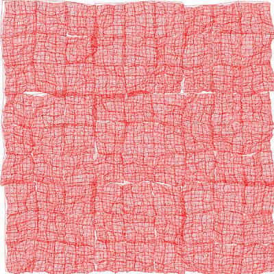 Detail Digital Art - Red.173 by Gareth Lewis