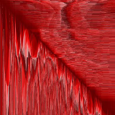 Shadow Digital Art - Red.25 by Gareth Lewis