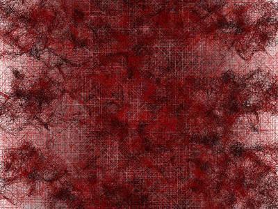 Smoke Digital Art - Red.254 by Gareth Lewis