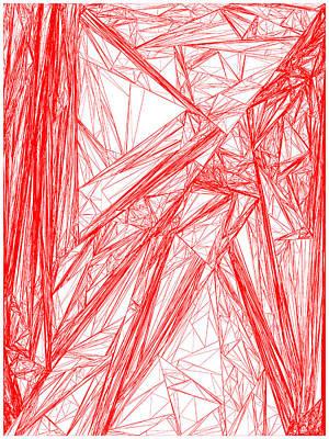 Wood Digital Art - Red.282 by Gareth Lewis