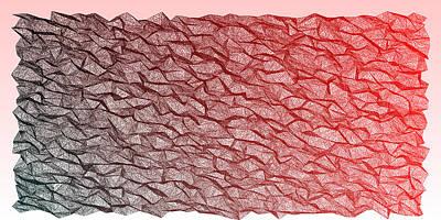 Fire Digital Art - Red.354 by Gareth Lewis