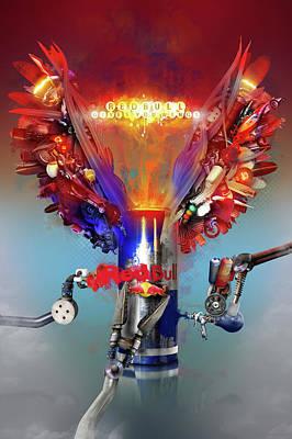 Robert Palmer Mixed Media - Redbull Gives You Wings by Robert Palmer