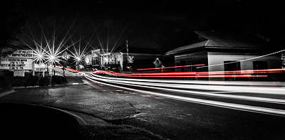 Reds In Downtown Helena Print by Parker Cunningham
